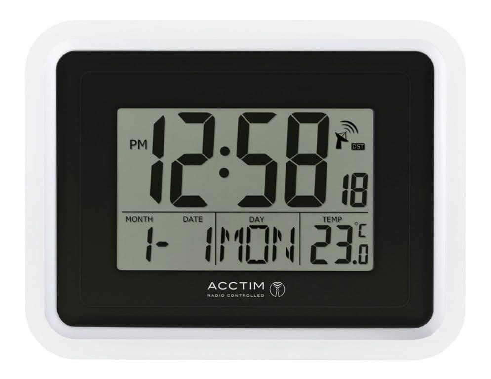 Acctim Delta Wall Clock - White